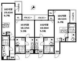 JR山手線 大崎駅 徒歩13分の賃貸アパート 1階1Kの間取り