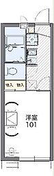 JR中央線 西八王子駅 バス12分 横川下車 徒歩8分の賃貸アパート 2階1Kの間取り