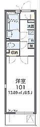 JR横浜線 八王子みなみ野駅 徒歩14分の賃貸マンション 2階1Kの間取り