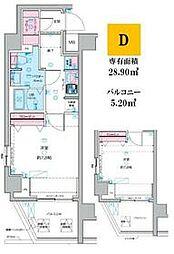 JR総武線 荻窪駅 徒歩14分の賃貸マンション 3階1Kの間取り