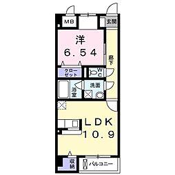 小田急小田原線 町田駅 バス19分 八幡神社前下車 徒歩1分の賃貸マンション 2階1LDKの間取り