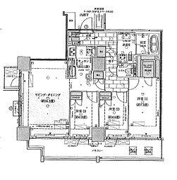JR京浜東北・根岸線 王子駅 徒歩1分の賃貸マンション 24階3LDKの間取り