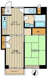 都営三田線 春日駅 徒歩3分の賃貸マンション 11階2DKの間取り