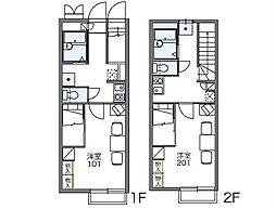 JR両毛線 岩宿駅 徒歩23分の賃貸アパート 2階1Kの間取り