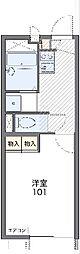 JR東北本線 東大宮駅 徒歩12分の賃貸アパート 1階1Kの間取り