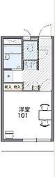 JR東海道本線 浜松駅 バス18分 浜松北高下車 徒歩1分の賃貸マンション 3階1Kの間取り