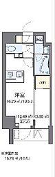 東京メトロ南北線 麻布十番駅 徒歩10分の賃貸マンション 9階ワンルームの間取り