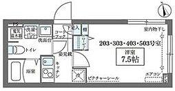 JR山手線 日暮里駅 徒歩8分の賃貸マンション 3階1Kの間取り