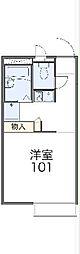 東武伊勢崎線 鷲宮駅 徒歩12分の賃貸アパート 1階1Kの間取り