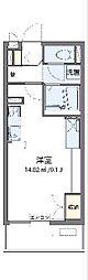 西武多摩湖線 八坂駅 徒歩22分の賃貸マンション 1階ワンルームの間取り