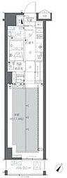東京メトロ千代田線 代々木公園駅 徒歩8分の賃貸マンション 3階1Kの間取り