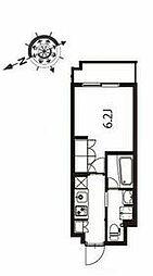 京急本線 立会川駅 徒歩3分の賃貸マンション 3階1Kの間取り