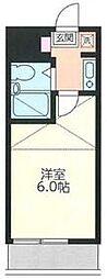 東武伊勢崎線 羽生駅 徒歩5分の賃貸アパート 1階1Kの間取り