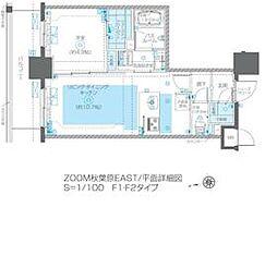 JR総武線 浅草橋駅 徒歩5分の賃貸マンション 7階1LDKの間取り