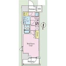 JR総武線 亀戸駅 徒歩15分の賃貸マンション 6階1Kの間取り