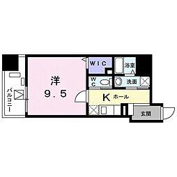 東京メトロ東西線 葛西駅 徒歩17分の賃貸マンション 8階1Kの間取り