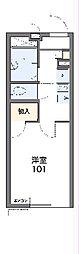 レオパレスグリーンリーブス荏田 2階1Kの間取り