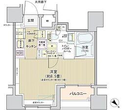 都営大江戸線 築地市場駅 徒歩4分の賃貸マンション 9階1Kの間取り