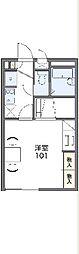 JR山陰本線 亀岡駅 徒歩18分の賃貸アパート 2階1Kの間取り