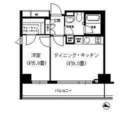 京急本線 戸部駅 徒歩3分の賃貸マンション 2階1DKの間取り