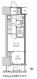 名古屋市営東山線 新栄町駅 徒歩8分の賃貸マンション 9階1DKの間取り