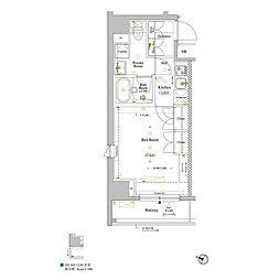 JR山手線 巣鴨駅 徒歩5分の賃貸マンション 3階1Kの間取り