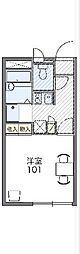 JR両毛線 桐生駅 徒歩14分の賃貸アパート 2階1Kの間取り