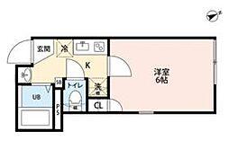JR常磐線 北千住駅 徒歩12分の賃貸マンション 1階1Kの間取り