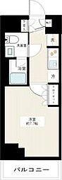東急多摩川線 矢口渡駅 徒歩3分の賃貸マンション 2階1Kの間取り