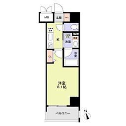 名古屋市営桜通線 丸の内駅 徒歩8分の賃貸マンション 9階1Kの間取り