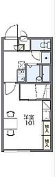 JR両毛線 前橋駅 バス43分 関根町三丁目下車 徒歩3分の賃貸アパート 2階1Kの間取り
