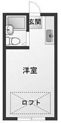 JR中央本線 相模湖駅 6kmの賃貸アパート 1階ワンルームの間取り