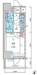 東京メトロ千代田線 綾瀬駅 徒歩12分の賃貸マンション 12階1Kの間取り