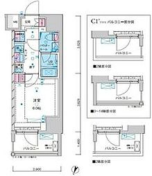 東京メトロ千代田線 綾瀬駅 徒歩12分の賃貸マンション 4階1Kの間取り