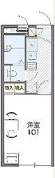 JR東海道本線 戸塚駅 バス19分 原宿下車 徒歩4分の賃貸マンション 2階1Kの間取り