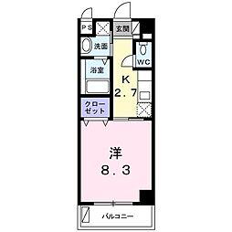 沖縄都市モノレール 赤嶺駅 徒歩26分の賃貸マンション 4階1Kの間取り