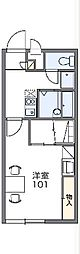 JR高崎線 新町駅 徒歩15分の賃貸アパート 1階1Kの間取り