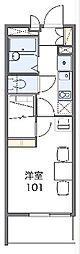 JR青梅線 東青梅駅 徒歩11分の賃貸マンション 2階1Kの間取り