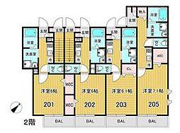 U・K Heiwadai 2階1Kの間取り