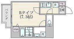 東京メトロ銀座線 稲荷町駅 徒歩5分の賃貸マンション 3階1Kの間取り