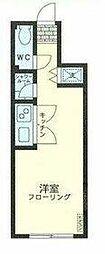 JR中央線 西国分寺駅 徒歩14分の賃貸アパート 1階ワンルームの間取り