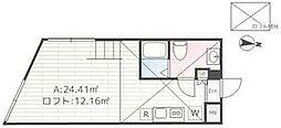 京急本線 雑色駅 徒歩4分の賃貸マンション 2階ワンルームの間取り