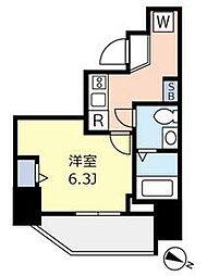 東京メトロ千代田線 千駄木駅 徒歩3分の賃貸マンション 10階1Kの間取り