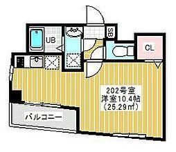 都営新宿線 東大島駅 徒歩5分の賃貸マンション 2階1Kの間取り