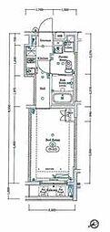 西武新宿線 新井薬師前駅 徒歩3分の賃貸マンション 3階1Kの間取り