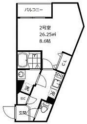 東武東上線 ときわ台駅 徒歩7分の賃貸マンション 4階1Kの間取り