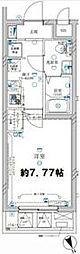 東京メトロ有楽町線 地下鉄赤塚駅 徒歩7分の賃貸マンション 4階1Kの間取り