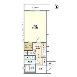 東京メトロ半蔵門線 表参道駅 徒歩9分の賃貸マンション 1階1Kの間取り