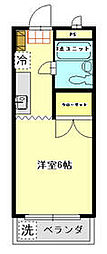 JR青梅線 青梅駅 徒歩21分の賃貸マンション 3階1Kの間取り