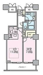 東京メトロ日比谷線 南千住駅 徒歩5分の賃貸マンション 7階1LDKの間取り